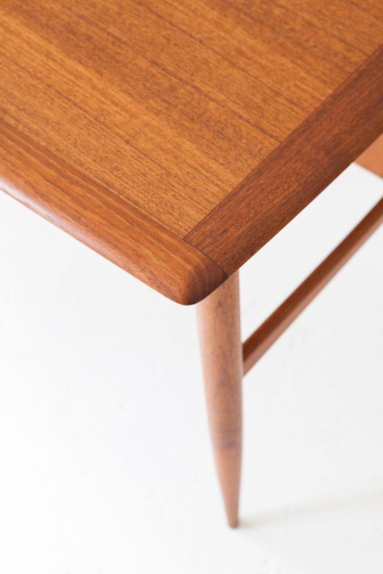 Fully Restored Danish Mid-Century Modern Teak Day Desk, 1950s For Sale 3