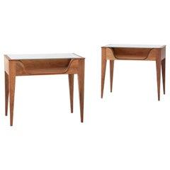 Pair of Italian Bedside Tables by F.lli Strada, 1950s