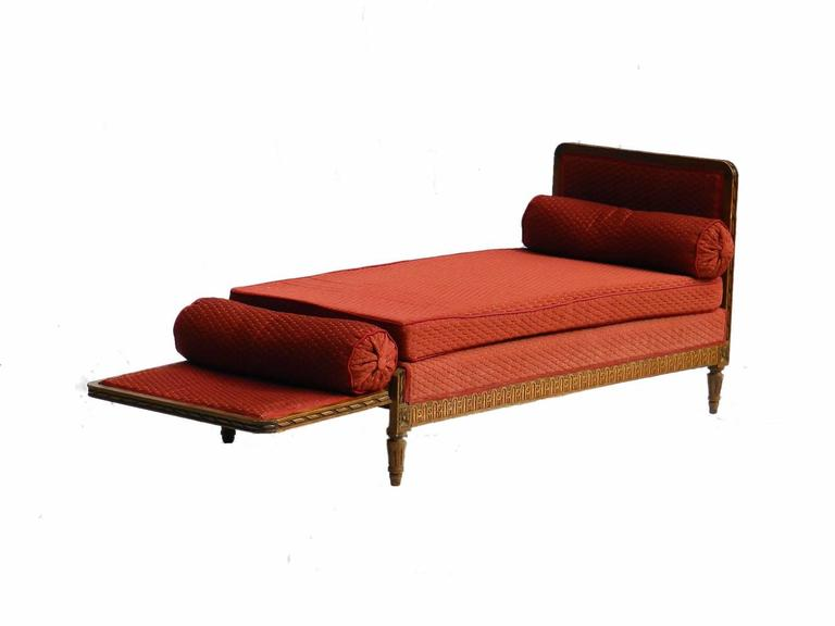 French daybed sofa or single chaise longue in oak circa for Chaise or daybed
