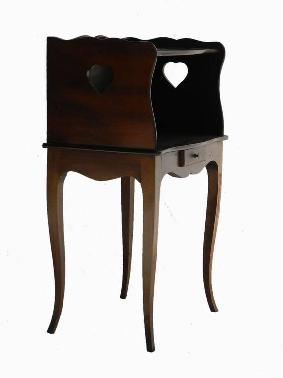 Pair of french nightstand bedside tables provincial louis for French nightstand bedside table