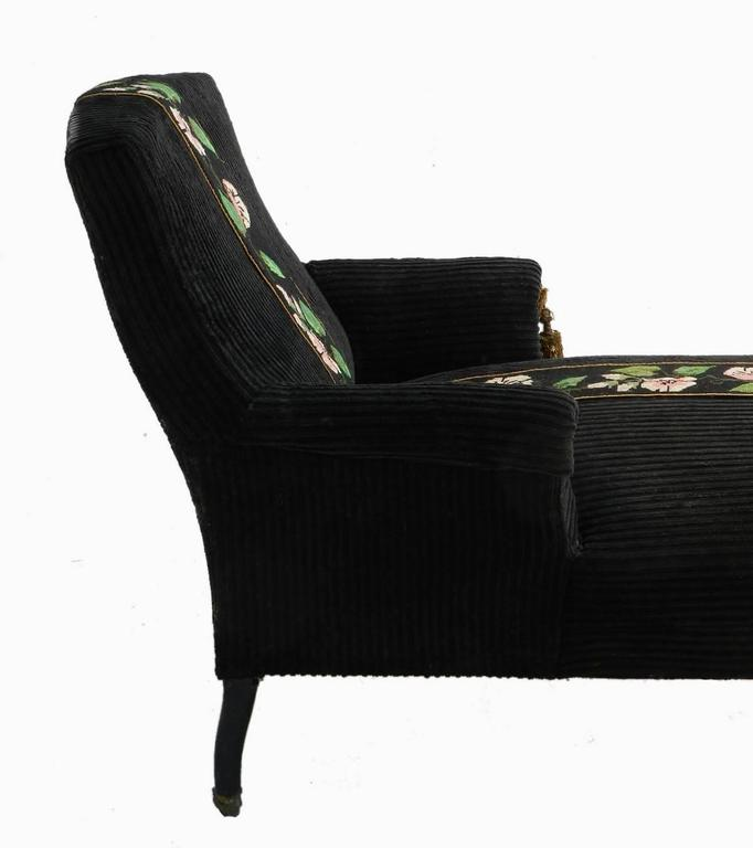 french chaise longue meridienne armchair napoleon iii to recover for sale at 1stdibs. Black Bedroom Furniture Sets. Home Design Ideas