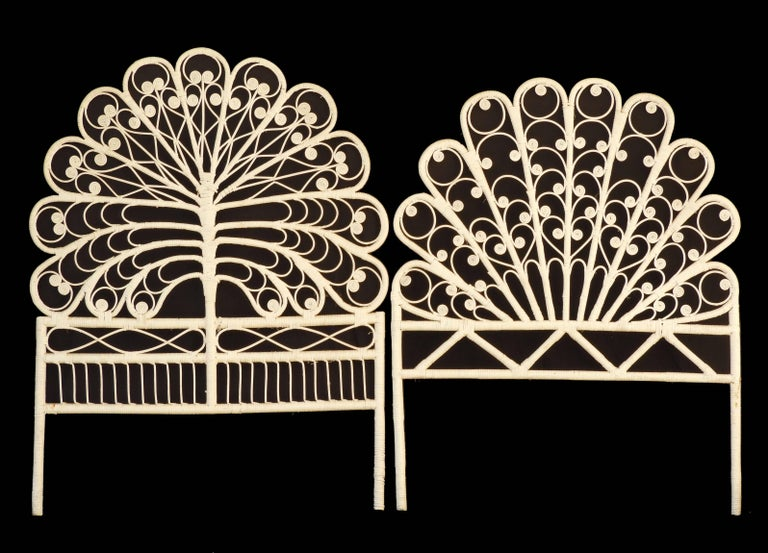 Midcentury Headboard Rattan, circa 1960-70   In Good Condition For Sale In France, GB