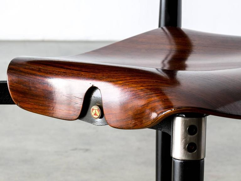 Mid-20th Century Rosewood and Black Lacquered