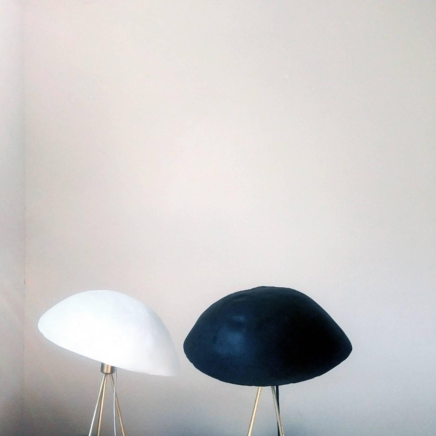 Funny buddy floor lamp with concrete noggin and brass for Funny lamps for sale