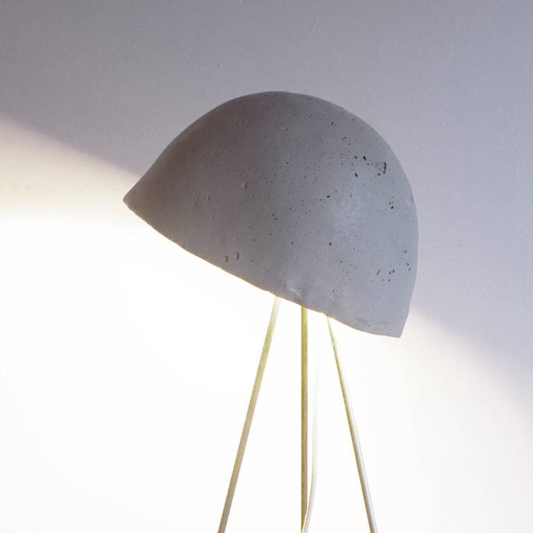Mini Buddy Desk Lamp with Gypsum Noggin and Brass Tripod Legs For Sale 1