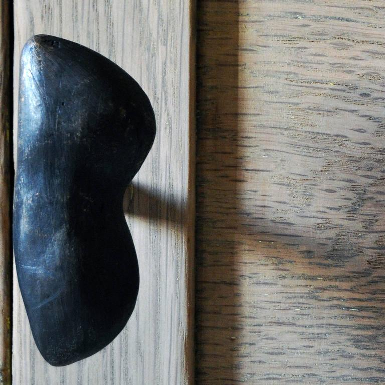 Solid Brass Cast and Blackened Edna Drawer Pull Hardware In New Condition For Sale In Portland, OR