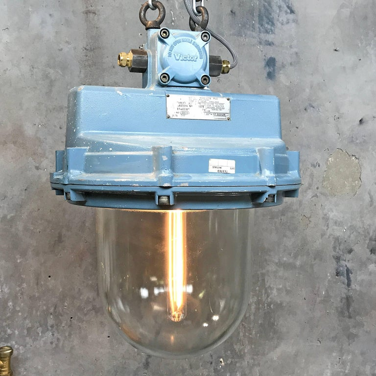 1980s British Made Aluminium And Glass Explosion Proof