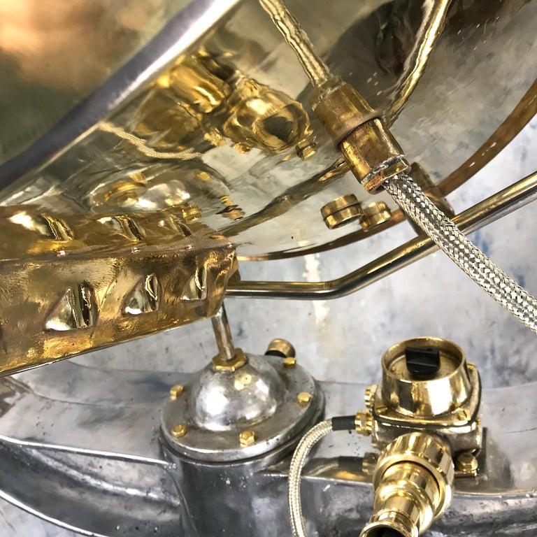1940s Rotherham's British Brass, Bronze and Aluminium Maritime Searchlight For Sale 3