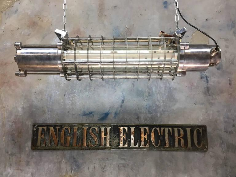 Original item salvaged from super tankers and military vessels, stripped and refinished in the UK.