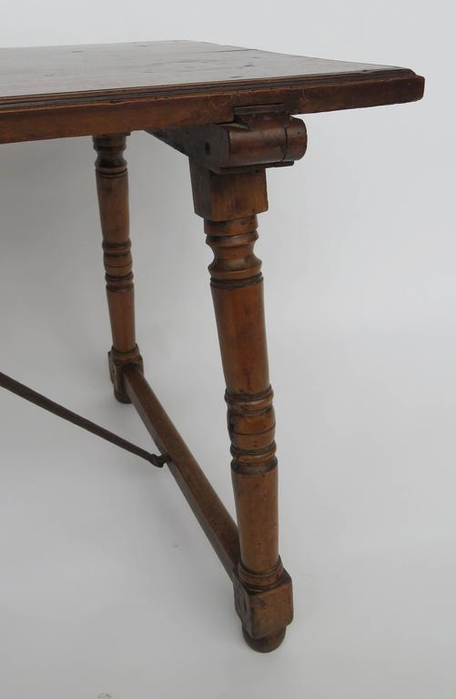 Hand-Carved 18th Century Walnut Side Table For Sale