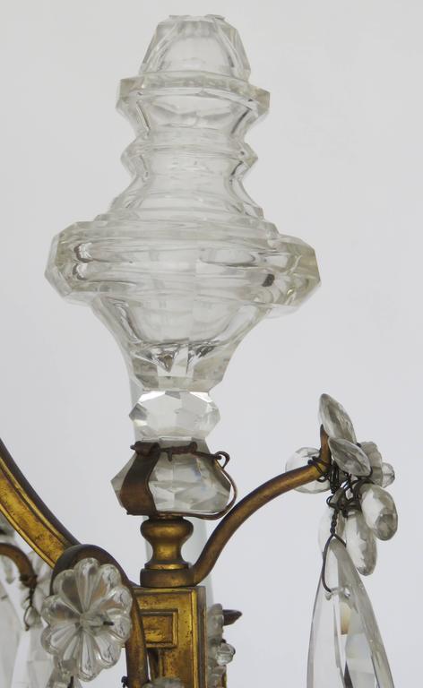 Kristall-Kronleuchter aus vergoldeter Bronze im Louis-XV-Stil von Baccarat, 19. Jahrhundert 8