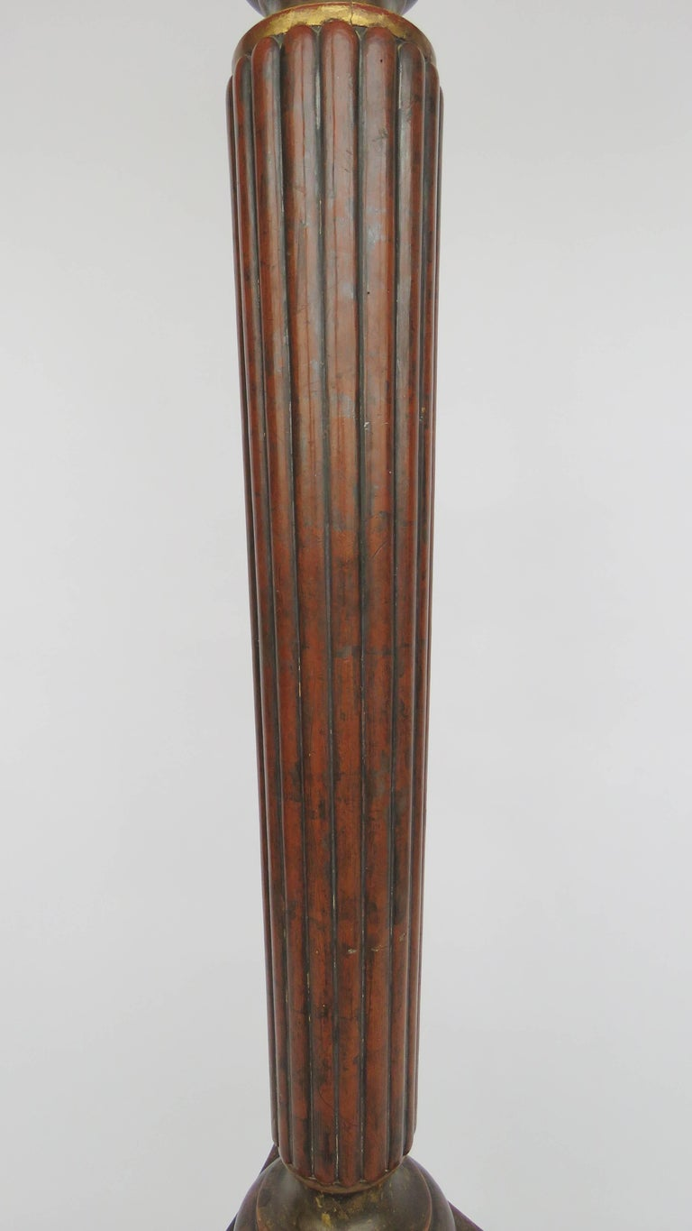 19th century large polychrome wood floor lamp for sale at for Wooden floor lamp for sale