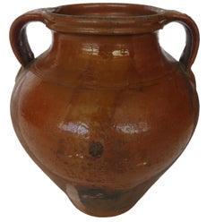 19th Century Glazed Olives Pot