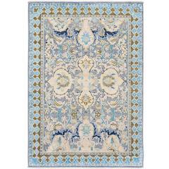 '17th Century Classic_Polonaise No. 02' Jaipur Persian Knot Vintage Wool Silk