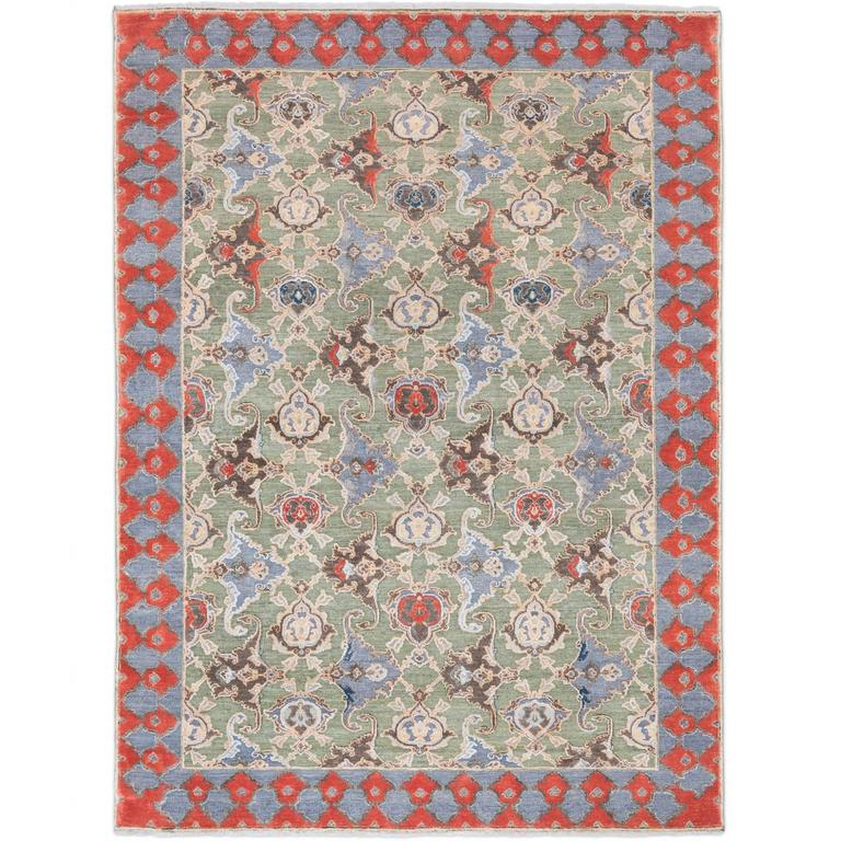 '17th Century Classic_Polonaise No. 05' Hand-knotted Silk and Wool Rug by Knots  1
