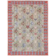 '17th Century Classic_Polonaise No. 05' Jaipur Persian Knot Vintage Wool Silk