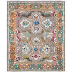 '17th Century Classic_Polonaise Original' Jaipur Persian Knot Vintage Wool Silk
