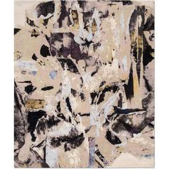 'Montage_Original' Hand-Knotted Tibetan Contemporary Abstract Rug Wool & Silk
