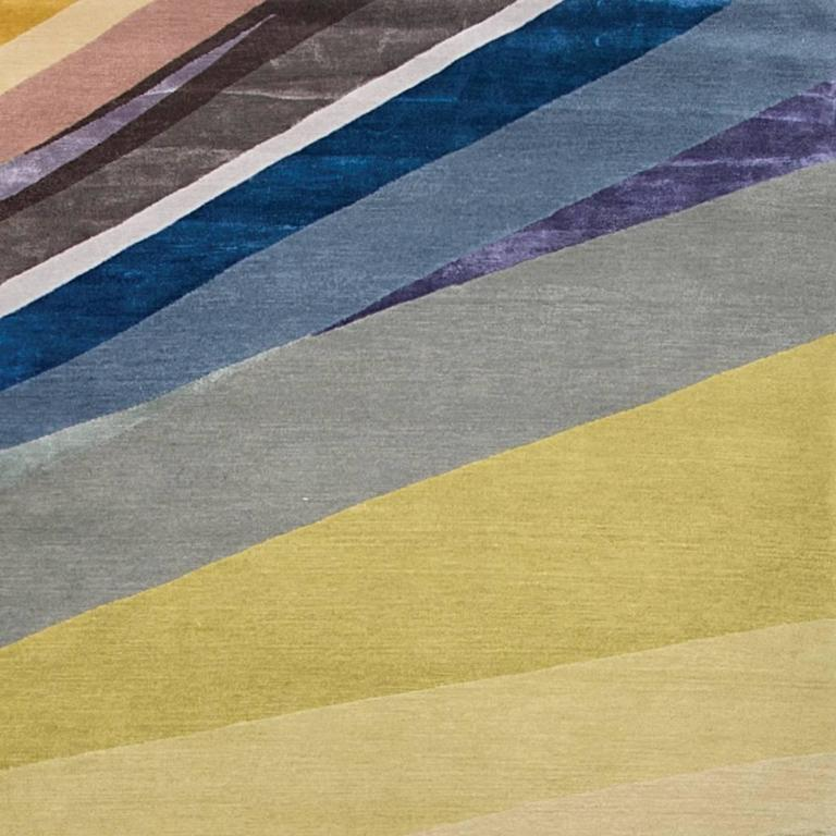 'Masterpieces_Colours' Hand-Knotted Tibetan Rug Made In