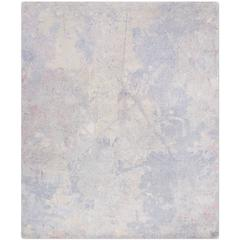 'Silhouette_Haze', Hand-Knotted Tibetan Contemporary Abstract Rug Wool & Silk