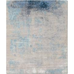 'Elements No.01 Serene' Hand-Knotted Tibetan Rug Made in Nepal