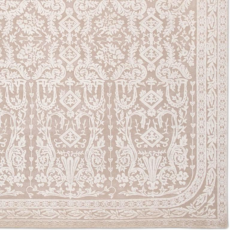'Venetian_Blush', Hand-Knotted Tibetan Rug Made In Nepal