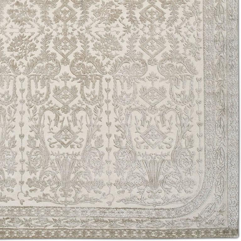 'Venetian_Mink', Hand-Knotted Tibetan Rug Made In Nepal By