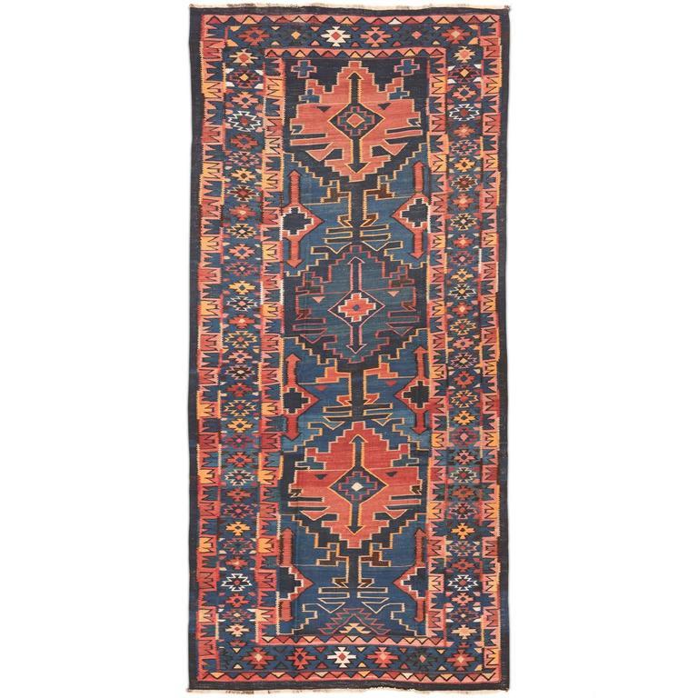 Caucasian Kilim Rug: Antique Caucasian Kilim For Sale At 1stdibs