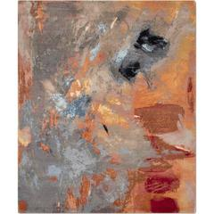 'Canvas Original' Hand-Knotted Contemporary, abstract, wool & silk, Tibetan Rug