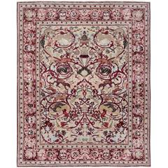 17th Century Modern Mexican Skulls Hand-Knotted Wool and Silk Rug