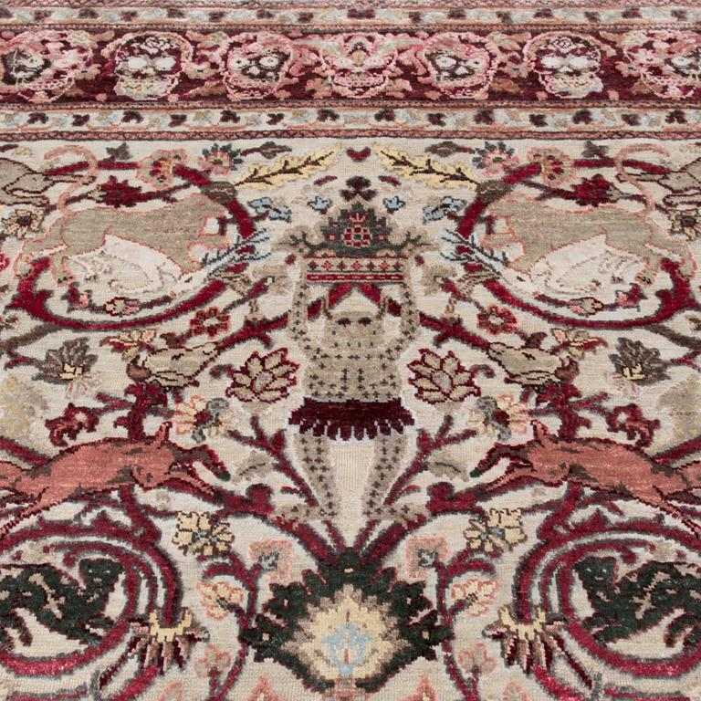 17th Century Modern Mexican Skulls Hand-Knotted Wool and Silk Rug by Knots Rugs 2