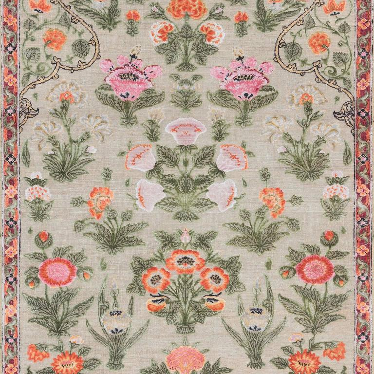 '17th Century Classic_Mughal No. 01' Hand-Knotted Wool & Silk Rug by Knots Rugs 2