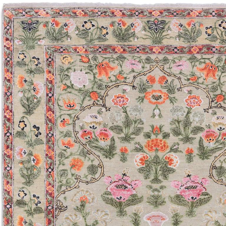 '17th Century Classic_Mughal No. 01' Hand-Knotted Wool & Silk Rug by Knots Rugs 3