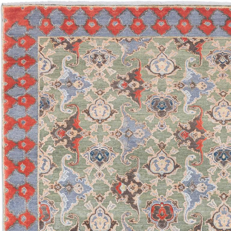 '17th Century Classic_Polonaise No. 05' Hand-knotted Silk and Wool Rug by Knots  2