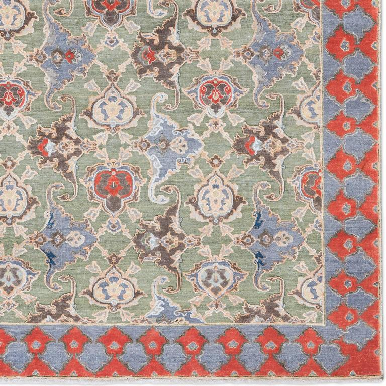 '17th Century Classic_Polonaise No. 05' Hand-knotted Silk and Wool Rug by Knots  3