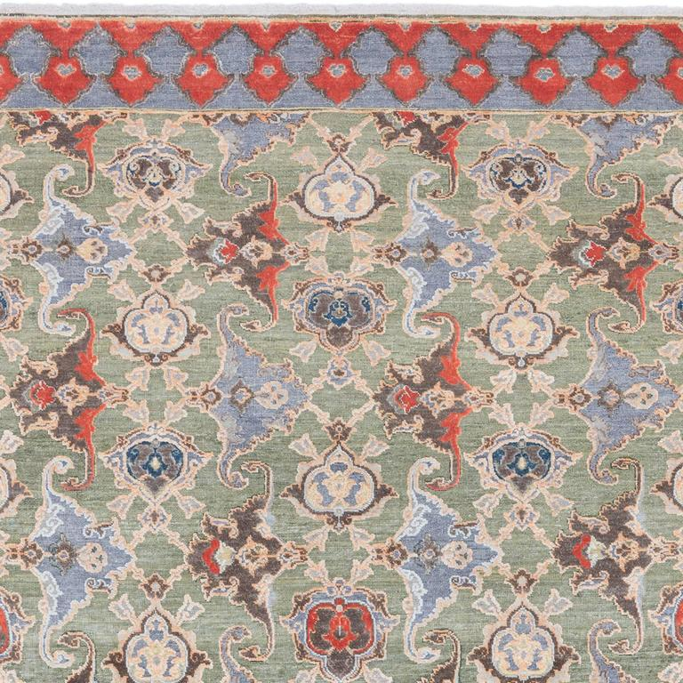 '17th Century Classic_Polonaise No. 05' Hand-knotted Silk and Wool Rug by Knots  4