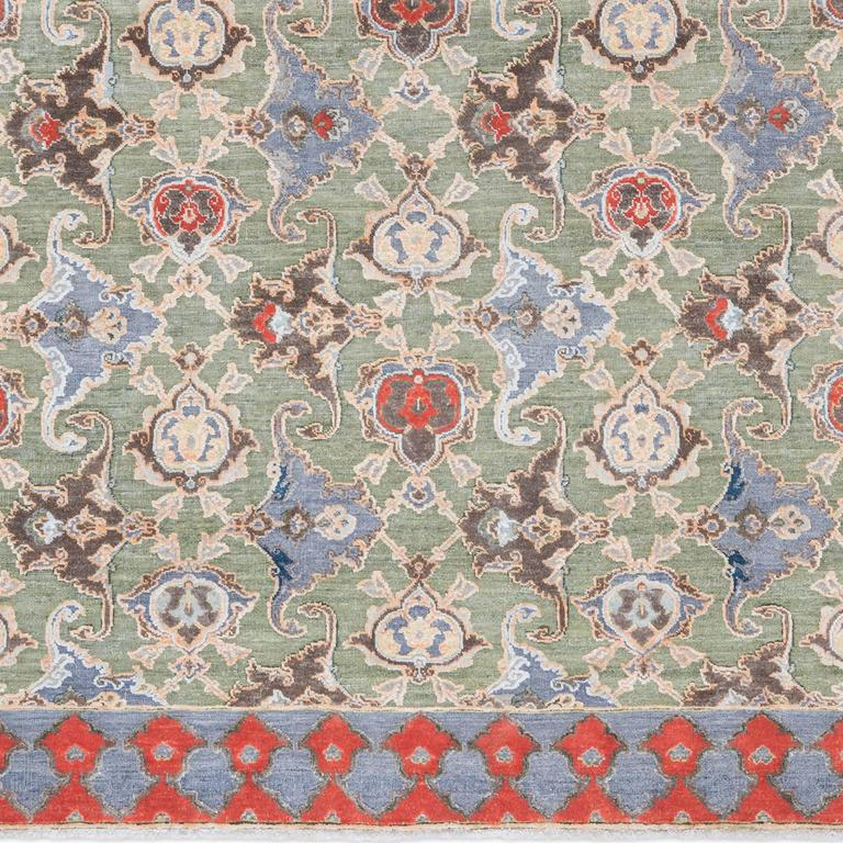 '17th Century Classic_Polonaise No. 05' Hand-knotted Silk and Wool Rug by Knots  5