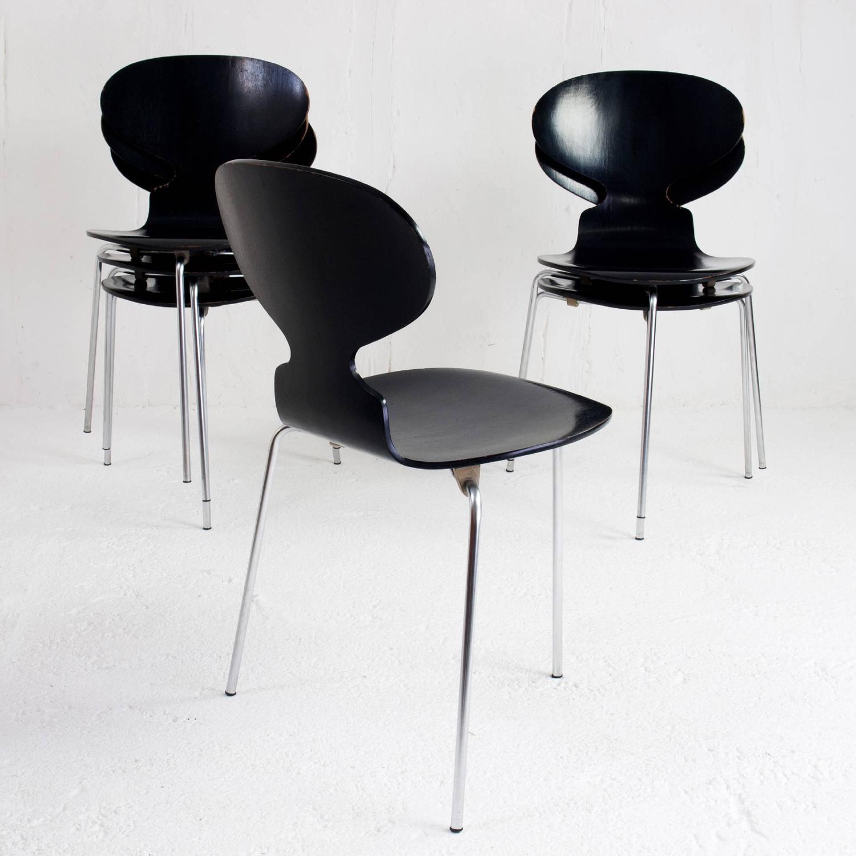 Danish ant chairs 3100 arne jacobsen for fritz hansen for Chaise fourmi jacobsen