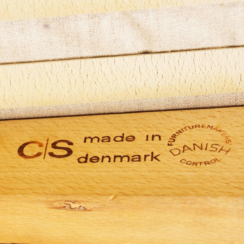 Hans Olsen Two Seat Leather Sofa Model 500 For C S M 248 Bler
