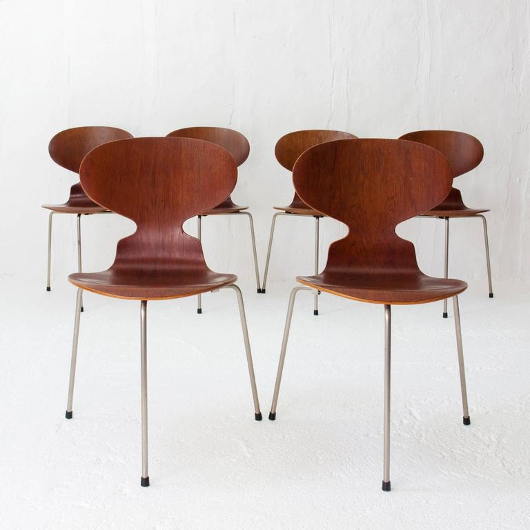 Teak ant chairs 3100 arne jacobsen for fritz hansen early for Arne jacobsen chaise fourmi