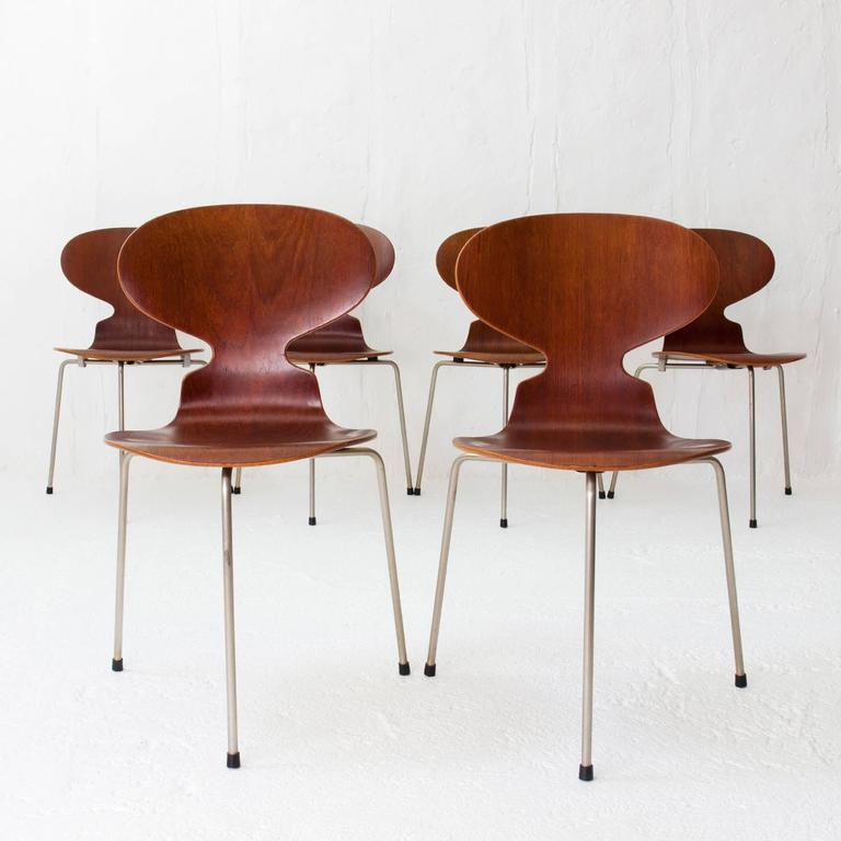 Teak ant chairs 3100 arne jacobsen for fritz hansen early for Chaise fourmi