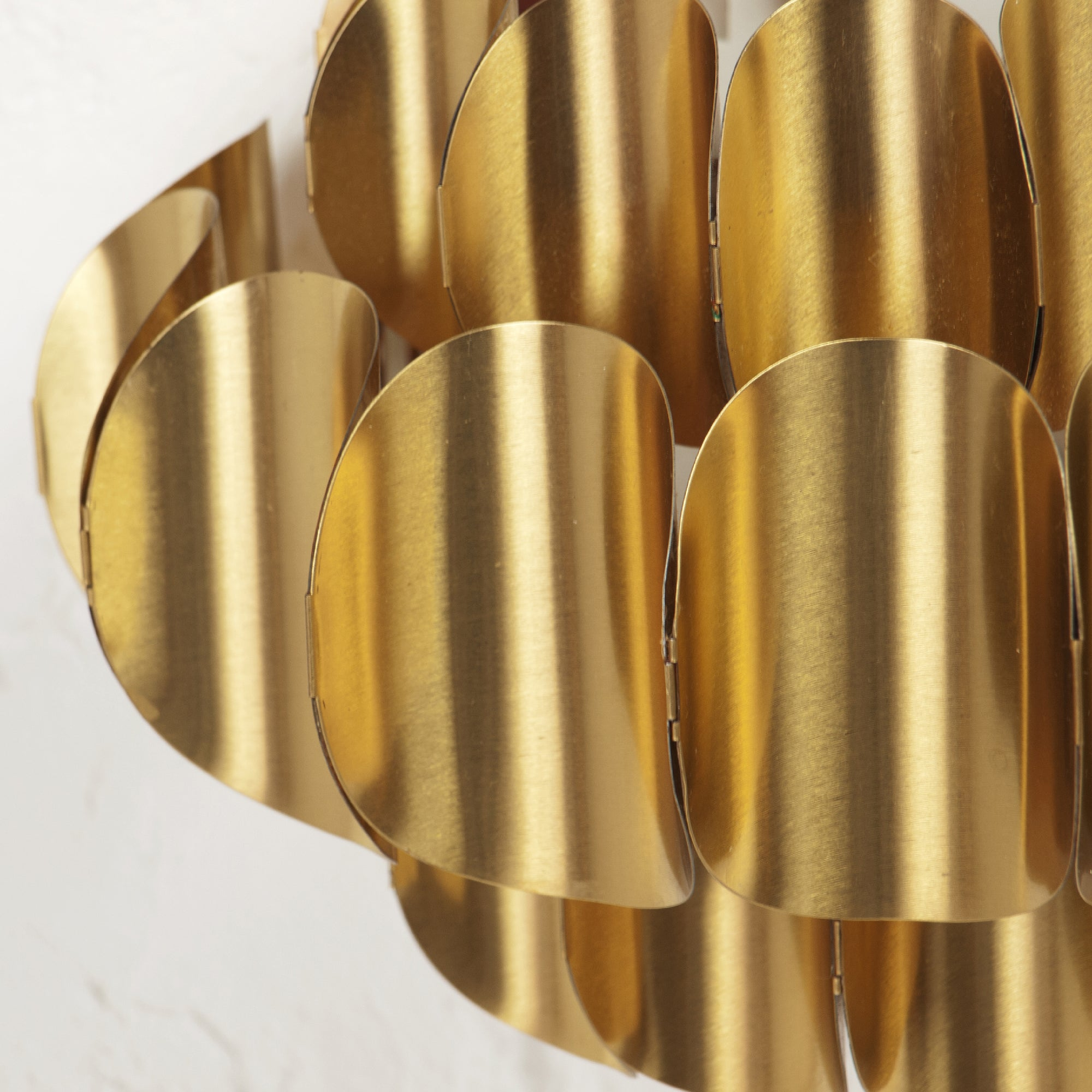 Pair of Verner Schou Gilded Metal Wall Lamp for Coronell Elektro ...