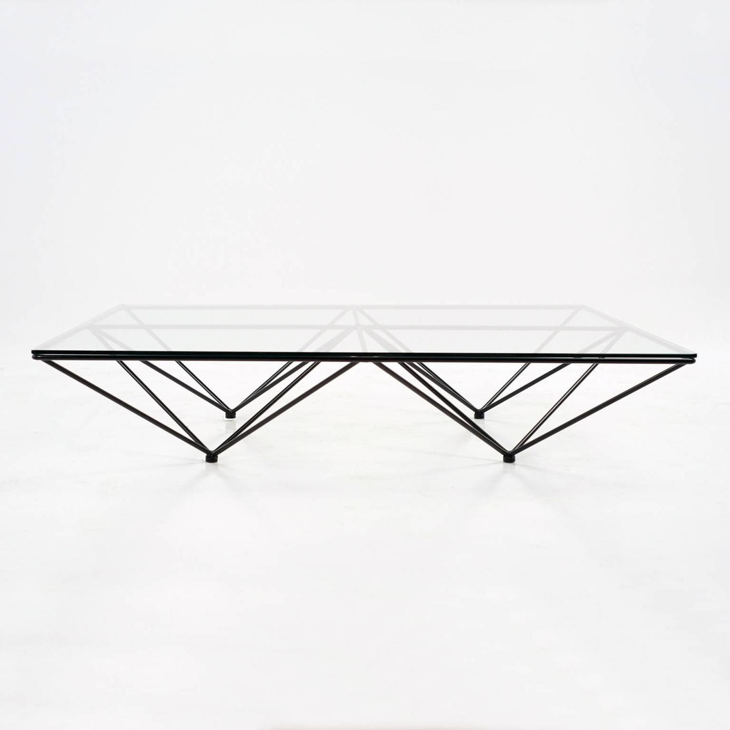 Charles Modern 47 Square Glass Top Coffee Table W: Paolo Piva 'Alanda' Coffee Table For B&B Italia, 1980 For