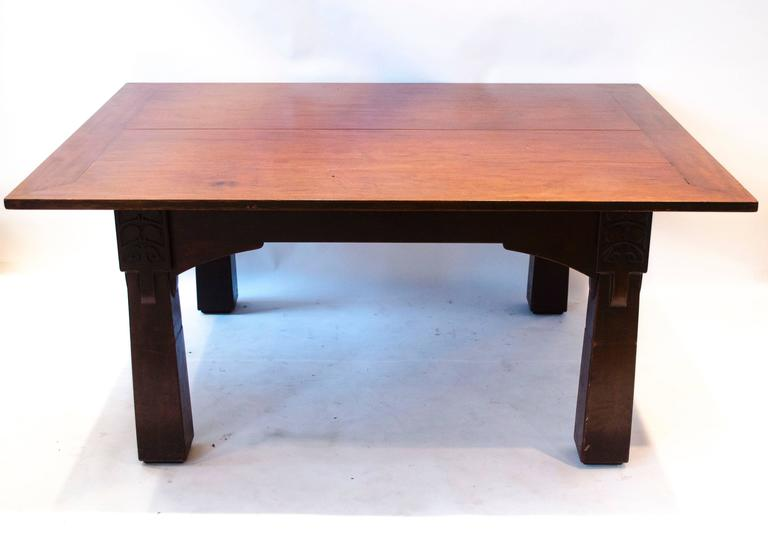 Arts And Crafts MH Baillie Scott A Cuban Mahogany Dining Table From The Liverpool School Of