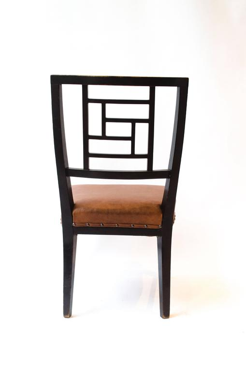 E W Godwin. An Anglo-Japanese Ebonized Side Chair Probably Made by William Watt In Good Condition For Sale In London, GB