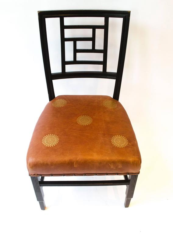 English E W Godwin. An Anglo-Japanese Ebonized Side Chair Probably Made by William Watt For Sale