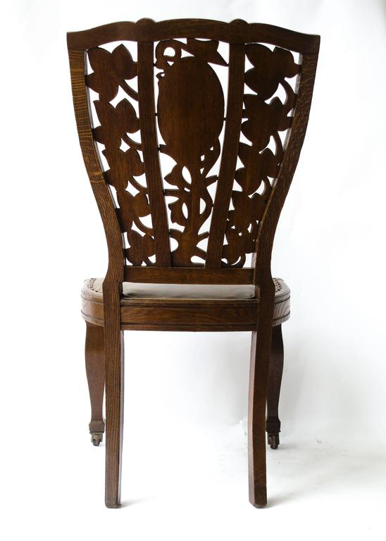 English Arthur Heygate Mackmurdo for the Century Guild. An Important Art Nouveau Chair For Sale