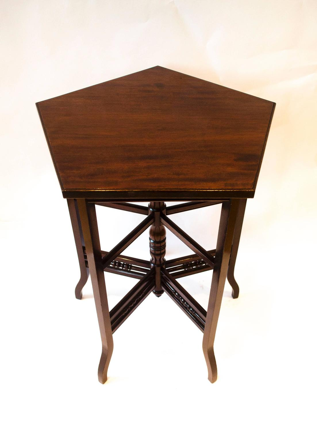 Arts and crafts walnut side table by e w godwin for sale for Arts and crafts side table