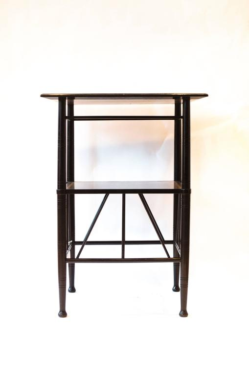 An Anglo Japanese Ebonized And Inlaid Side Table 2