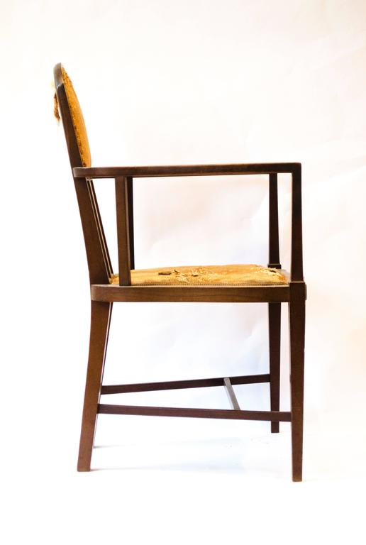 Arts and Crafts Arts & Crafts Armchair by G. M. Ellwood and J. S. Henry For Sale